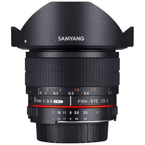 Obiettivo da 8mm F / 3.5 UMC Fish-Eye CS II per Sony-E CS II colore Nero