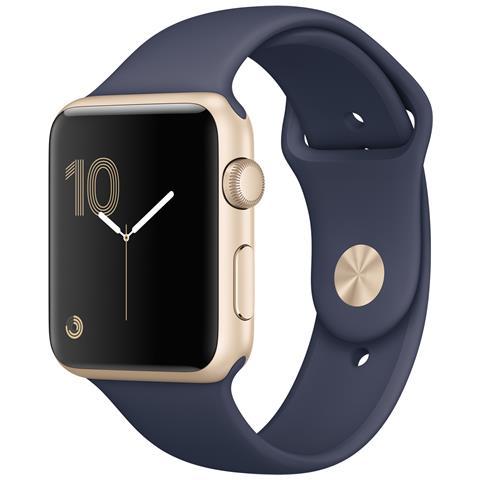 APPLE Watch Serie 2 Impermeabile 5ATM WiFi / Bluetooth GPS con Contapassi e Cardiofrequenzimetro Blu