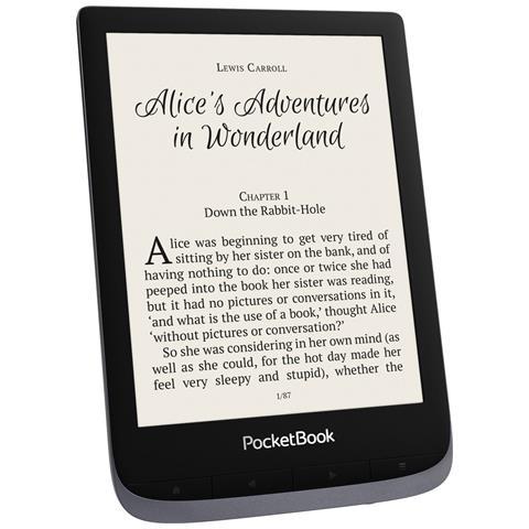 Lettore E-Book 6'' Touch HD 3 Touch Screen 16GB Wi-Fi / Bluetooth Colore Grigio