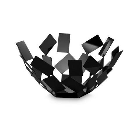 Alessi Fruttiera La Stanza dello Scirocco 27 cm rotonda colore nero
