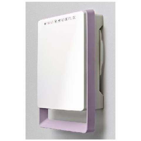 Touch Termoventilatore da Parete per Bagno Potenza 1800 Watt Colore Bianco e Viola