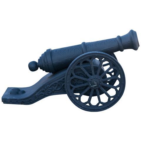 Fedele Riproduzione Di Cannone D'epoca In Fusione Di Ghisa L70xpr33h42 Cm