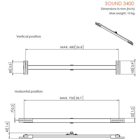 VOGELS Vogel's SOUND 3400 – Supporto per Sound Bar