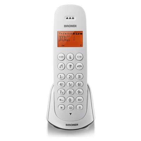 BRONDI Telefono Adara Cordless colore Bianco / Nero