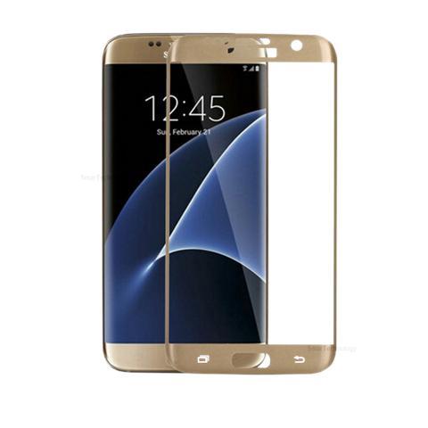 Smartechnology Pellicola Vetro Temperato Per Samsung Galaxy S7 Edge Colore Gold Oro Copertura Totale Bordi Per Display Touch Screen