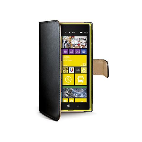 CELLY black pu wallet case lumia 1520