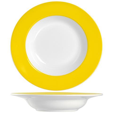 H&H Piatto F / giallo Ala Fondo Cm22 Stoviglie