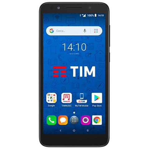 "TIM Smart 2018 Grigio Display 5.3"" FWVGA Quad Core Storage 8GB +Slot MicroSD Wi-Fi + 4G Fotocamera 8 Mpx Android - Tim Italia"