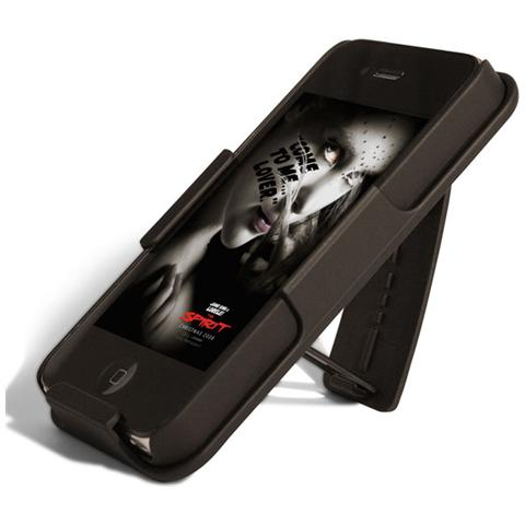 PURO *Puro Cust Cintura + Cover + Holder Iphone 4/4S Nero