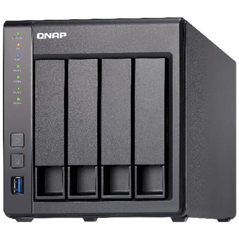 NAS TS-431X-8G 4 Slot 3.5'' / 2.5'' Interfacce 2 x Gigabit Ethernet / 3 x USB 3.0 Ram 8 GB
