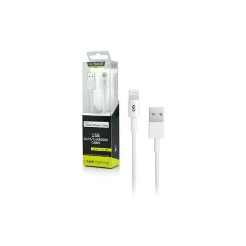 FONEX Cavo Dati / Caricatore USB per Apple Lightning 2m Colore Bianco