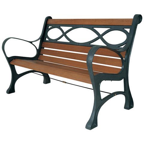 Panchina con struttura in ghisa verniciata a polveri e legno di qualita'
