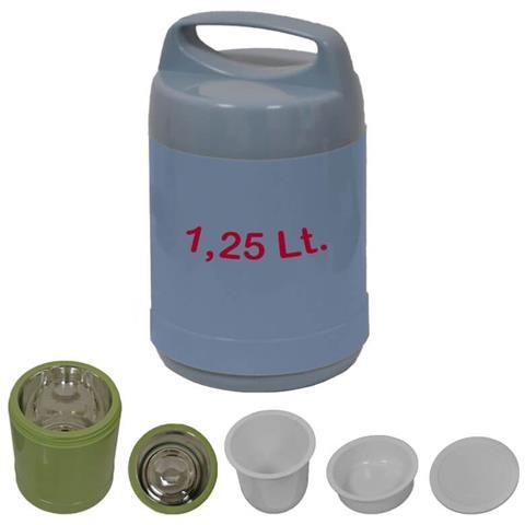 Thermos Portavivande 1 Litro - 1,25 Litri Vari Colori - Azzurro 1,25 Litri