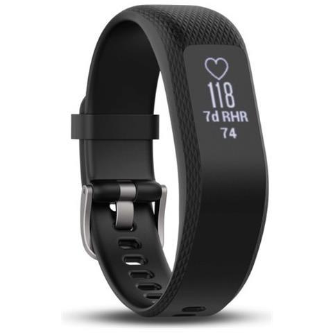 GARMIN Activity Tracker VivoSmart 3 Impermeabile 5ATM Schermo Touch Bluetooth con Cardio Integrato Taglia S / M Nero - Italia