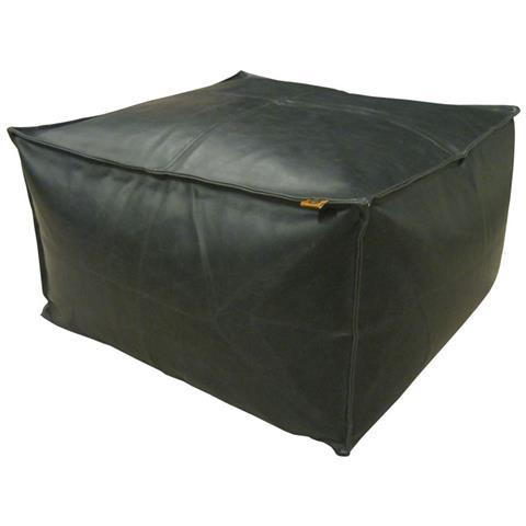 Overseas Pouf 60x60x30 Cm Pelle Artificiale Nera