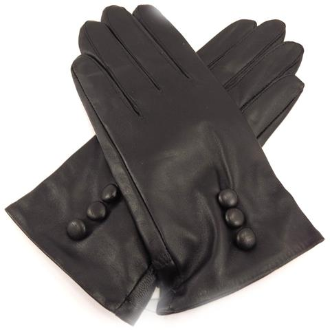 guanti in pelle donna 'clothilde' nero - [ k7570]