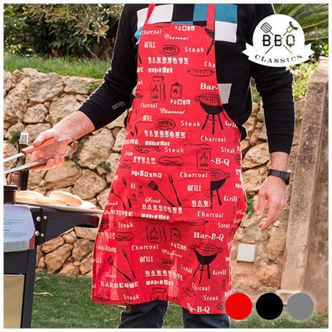 Grembiule Da Barbecue Bbq Classics Grigio