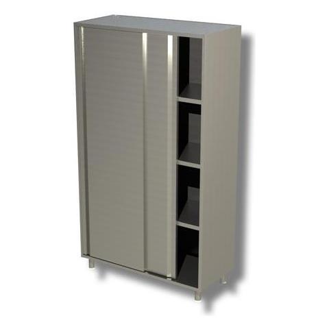 Armadio 120x60x200 Acciaio Inox 430 Porta Scorrevole Ristorante Pizzeria Rs6832