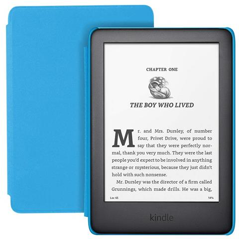 Lettore E-Book 6'' Kindle Kids 2019 Touch screen 8GB WI-Fi Colore Nero / Blu