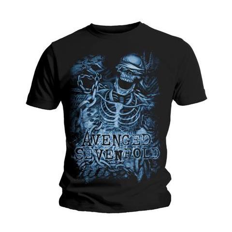 ROCK OFF Avenged Sevenfold - Chained Skeleton Black (T-Shirt Unisex Tg. S)