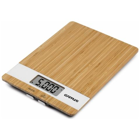 Bilancia Da Cucina Digitale Lcd Piattaforma Bambù 5 Kg