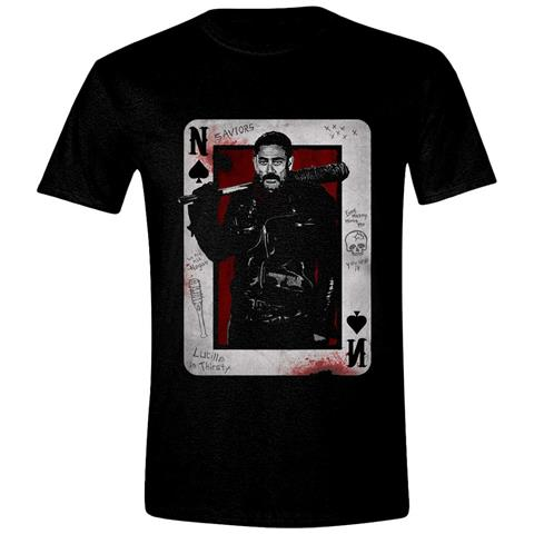 TimeCity Walking Dead (The) - Negan Playing Card Black (T-Shirt Unisex Tg. M)