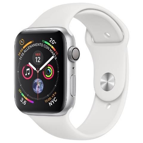 APPLE Watch Series 4 44mm Wi-Fi Cinturino Sport Bianco