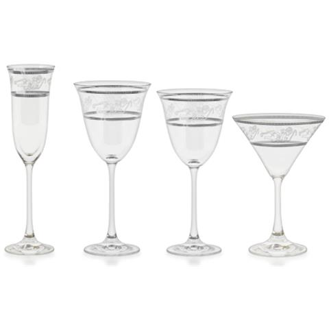 Angeli Platino - Servizio Bicchieri 50 Pezzi