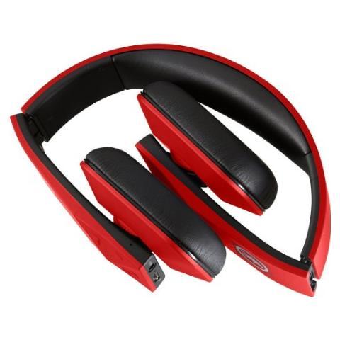 OUTDOOR TECH Tuis, Stereofonico, Bluetooth, Padiglione auricolare, Nero, Rosso, Con cavo e senza cavo, Sovraurale