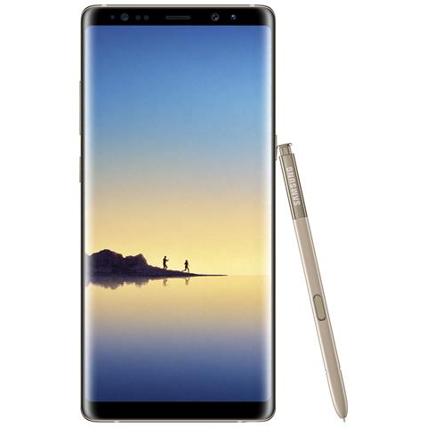 "SAMSUNG Galaxy Note 8 Oro 64 GB 4G / LTE Dual Sim Impermeabile Display 6.3"" Quad HD Slot Micro SD Fotocamera 12 Mpx Android Italia"