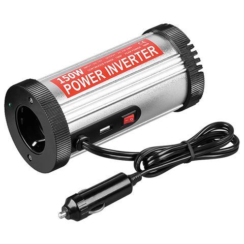 GOOBAY IPW-IF150W - Alimentatore da Auto DC / AC 150W da 12V a 230V con porta USB