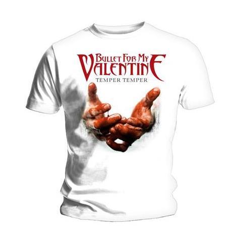 ROCK OFF Bullet For My Valentine - Temper Temper Blood Hands (T-Shirt Unisex Tg. XL)
