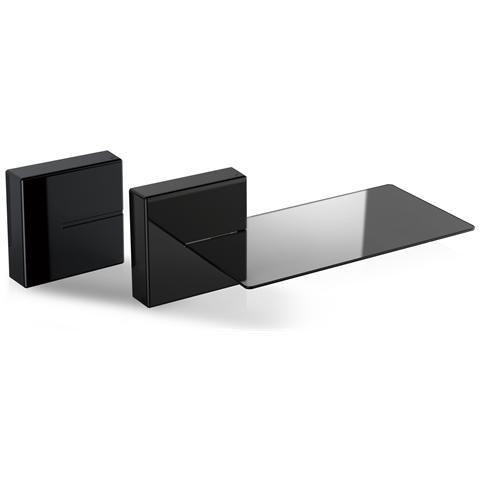MELICONI Sistema Copricavi con Mensola Ghost Cubes Shelf Portata Max 3 Kg colore Nero