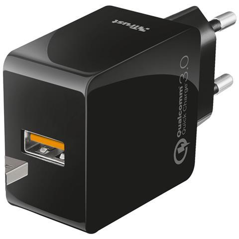TRUST Caricabatterie USB universale ultrarapido con spina a parete e tecnologia Quick Charge 3.0