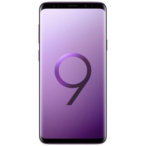 "SAMSUNG Galaxy S9+ Viola 64 GB 4G / LTE Dual Sim Impermeabile Display 6.2"" Quad HD Slot Micro SD Fotocamera 12 Mpx Android Europa"
