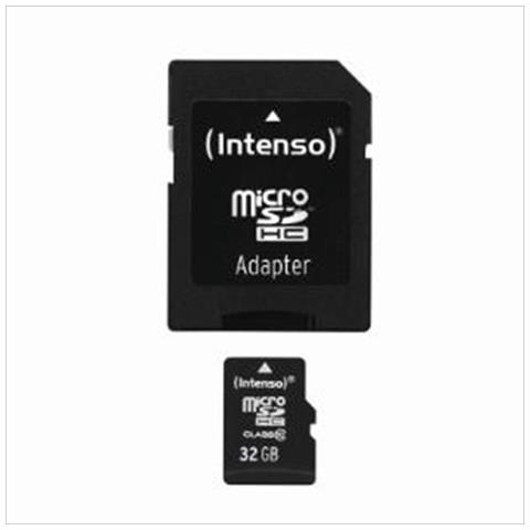 Intenso ® MICRO Secure Digital Cards SD CLASS 10 - 32GB (SIAE INCL)