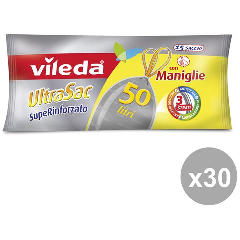 Vileda Set 30 60x75 Con Maniglie Superrinf. x 15 Pezzi Vileda Riordino