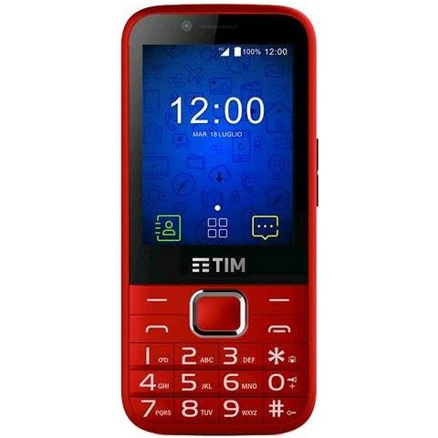 """TIM EASY Rosso Display 2.4"""" Wi-Fi + 4G Fotocamera 2Mpx Android - Tim Italia"""
