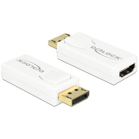 DeLOCK 65572 Displayport 1.2 HDMI Bianco cavo di interfaccia e adattatore