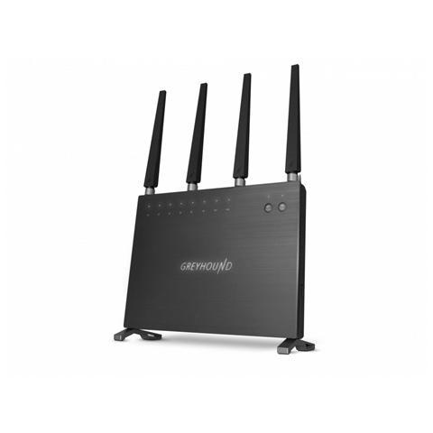 Image of AC2600 Greyhound Wi-Fi 800 + 1750 Mbps 5x porte Gigabit, 2x porte USB 3.0, slot per schede SD & porte audio