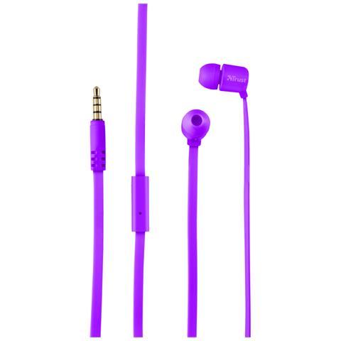 TRUST Duga Cuffie in-ear per tablet e smartphone - neon purple