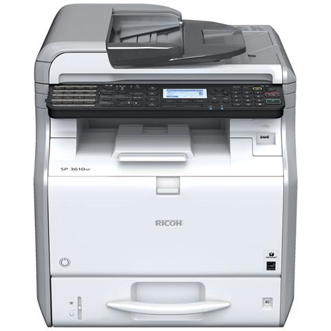 Image of Aficio SP 3610SF Stampante Multifunzione Stampa Copia Scansione Laser B / N A4 30 Ppm (B / N) Usb 2.0 Ethernet