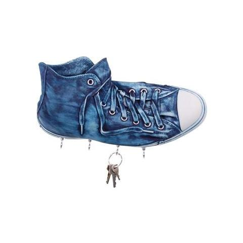 Antartidee Portachiavi da parete ''Richie'' in resina decorata a mano cm 30x17x10, jeans