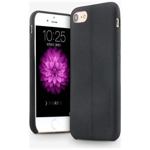 Usams Custodia Cover Di Protezione Joe Leather Hard Case Nero Per Iphone 7 Plus