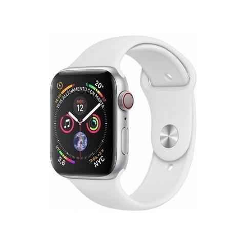 Watch Series 4 40 mm WiFi + Cellular cinturino Sport bianco