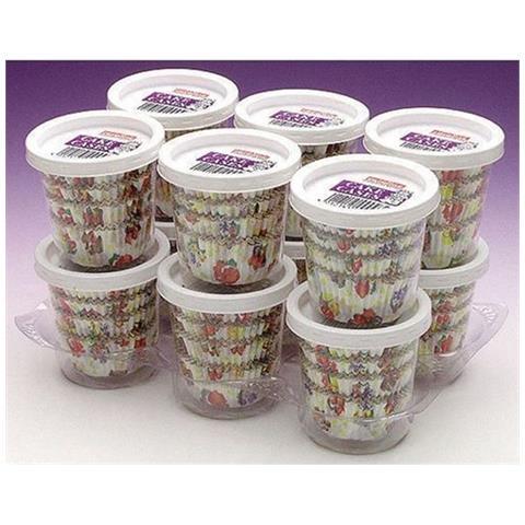 Pirrotini Motivo Floreale Per Cupcake Confezioni Da 100 12 Pacchi Da 100 (one Size) (multicolore)