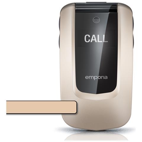 """Emporia Comfort V66 Senior Phone Display 2.4"""" +MicroSD Bluetooth con Tasti Grandi + SOS Fotocamera 2Mpx Colore Champagne"""