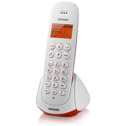 BRONDI Telefono Adara Cordless colore Bianco / Rosso