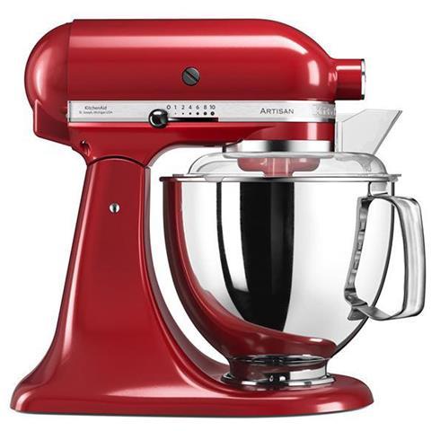 5KSM175PS Robot Da Cucina Artisan 7 Accessori Inclusi Capacità 4,8 Litri Colore Rosso Imperiale