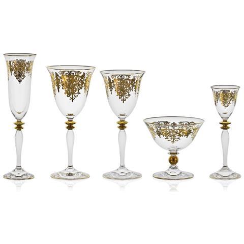 Giulia Oro - Servizio Bicchieri 62 Pezzi